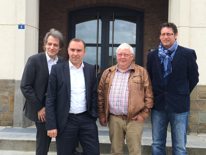 (Burgemeesters v.l.n.r.) Rudi Beeken (Tielt-Winge), Tim Vandenput (Hoeilaart), André Alles (Kortenaken), Jo Roggen (Geetbets)